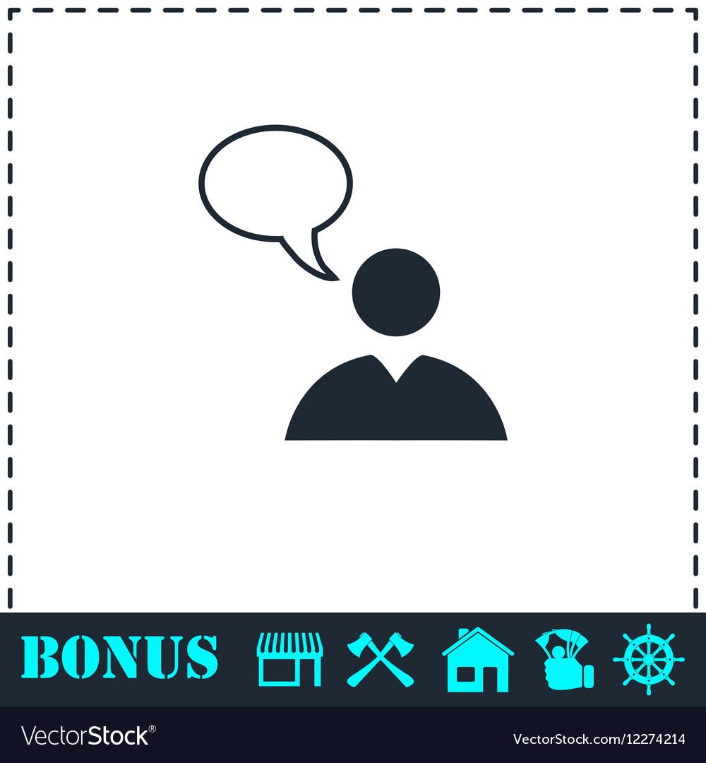 Dialog icon flat