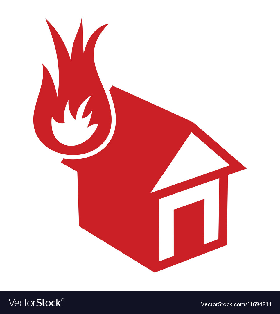 Fire in the house1 resize vector image
