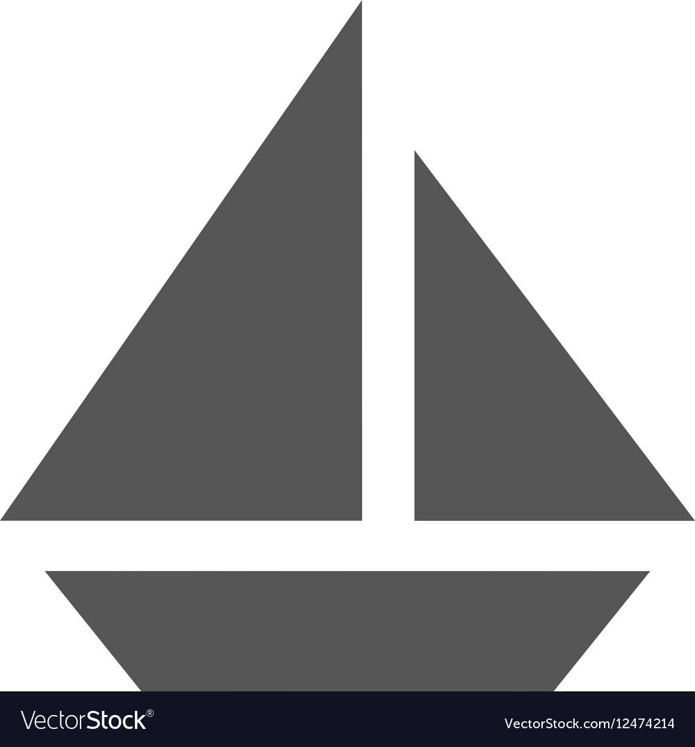 Grey boat icon
