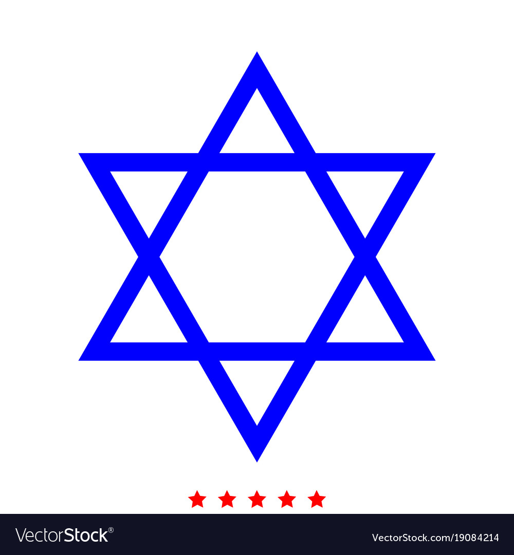 Jewish star of david icon different color
