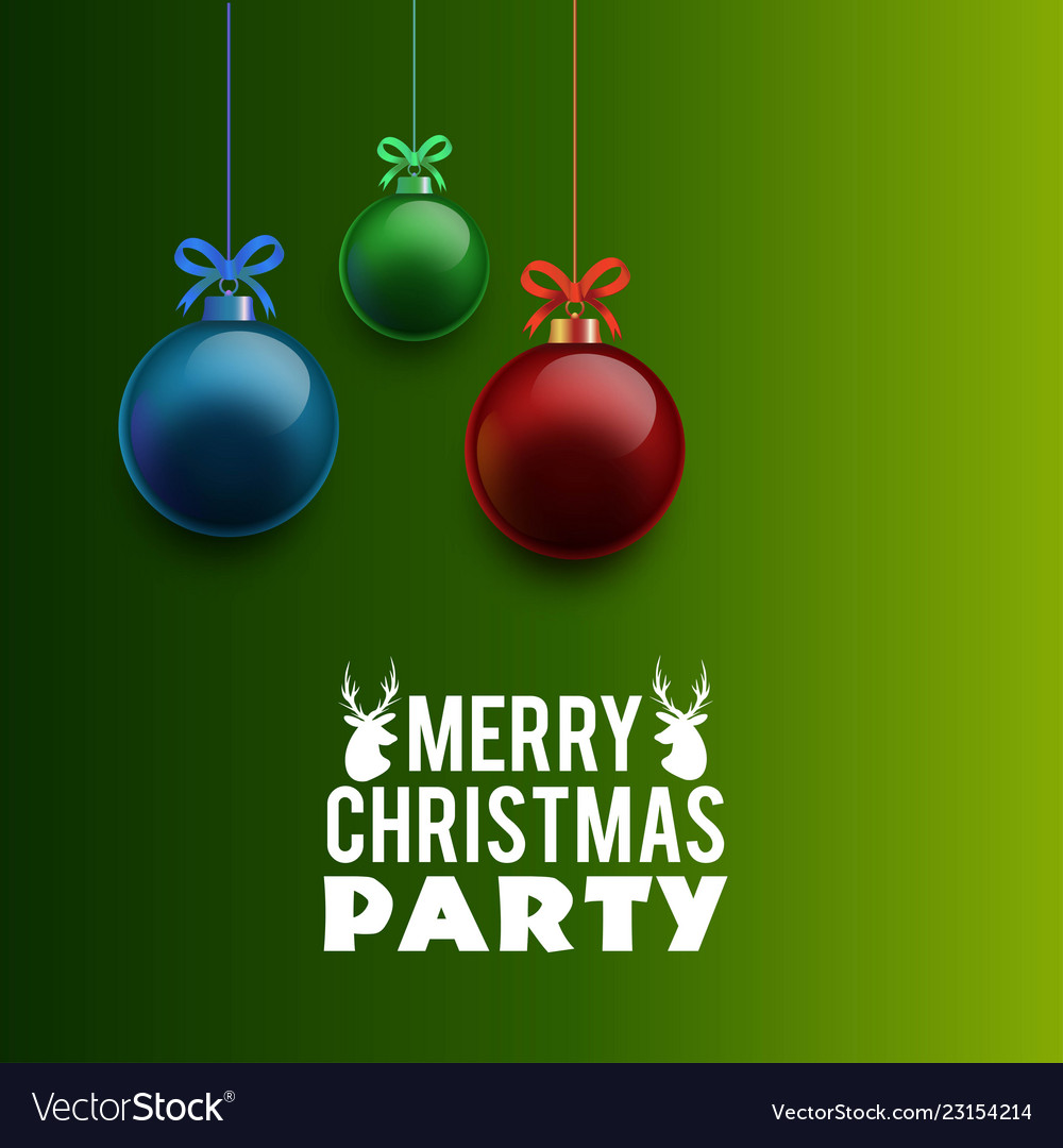 Merry Christmas Party Invitation Background Vector Image