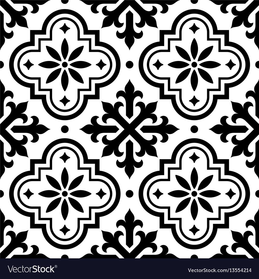 Spanish tile pattern moroccan tiles seamless Vector Image