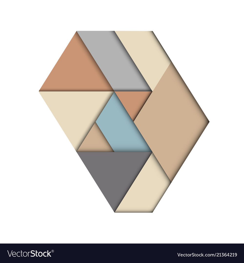 Abstract geometric triangle material style