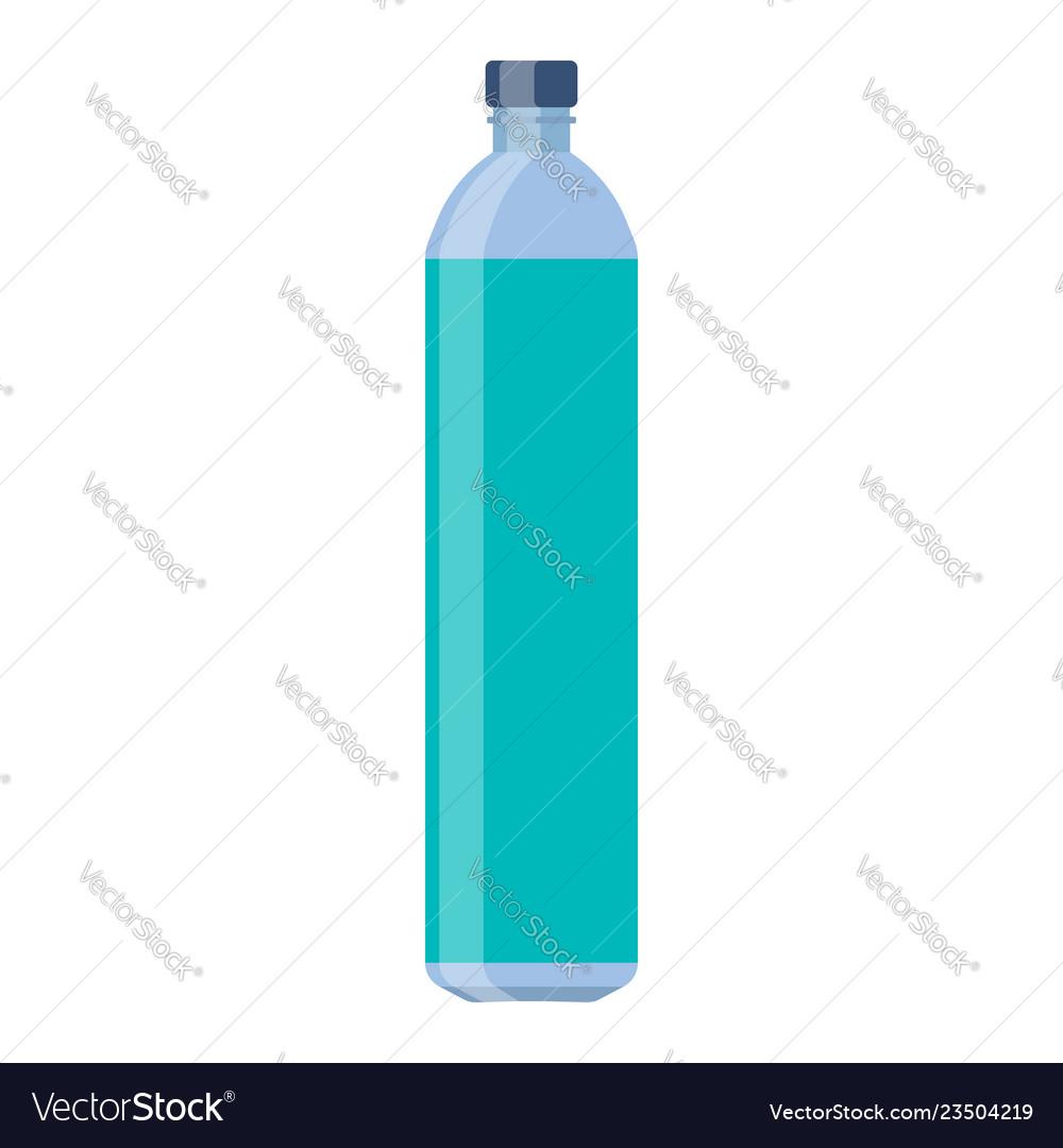 Bottle glass water flat design
