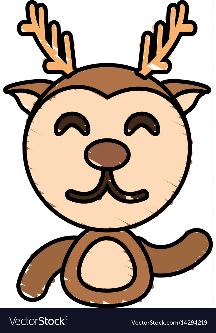 Draw deer animal comic