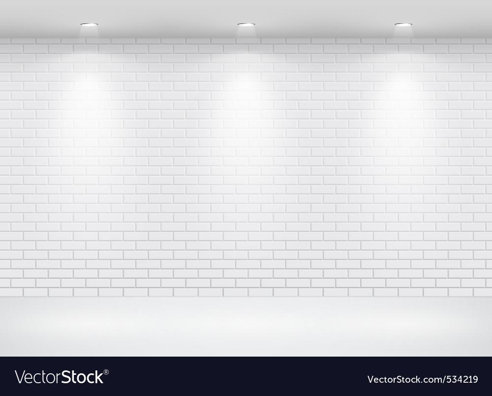 Gallery brick wall vector image