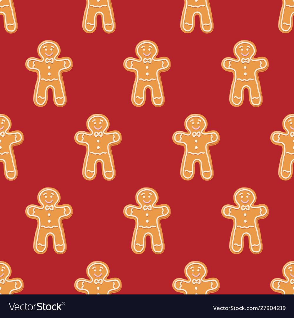 Ginger cookies seamless pattern