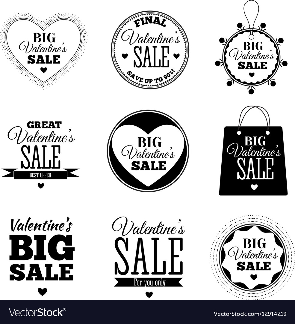 Set of Valentines day sale offers