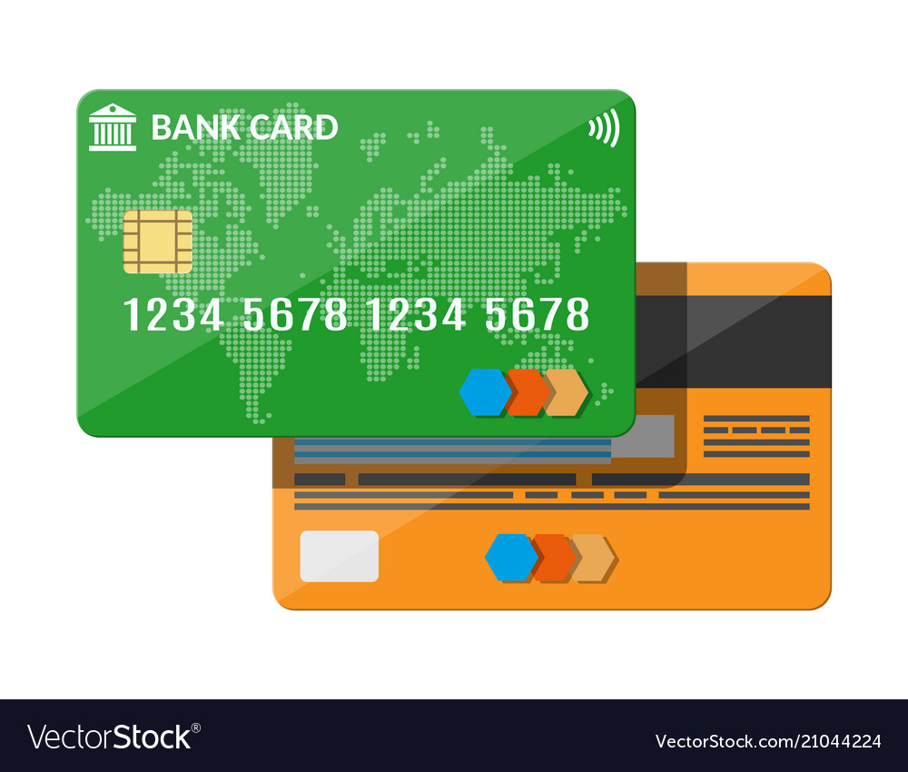 Bank card credit card template