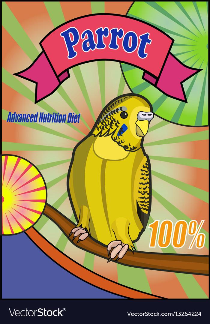 Banner food for parrots