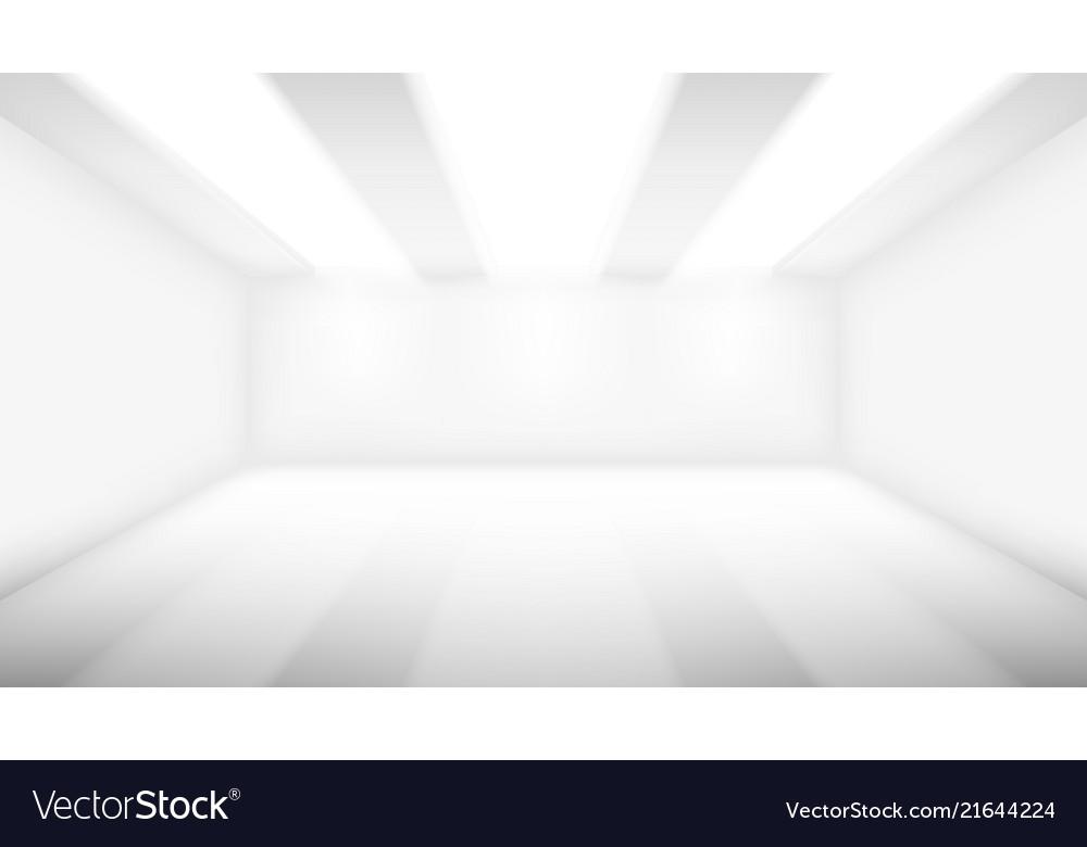 Big empty room with lighting