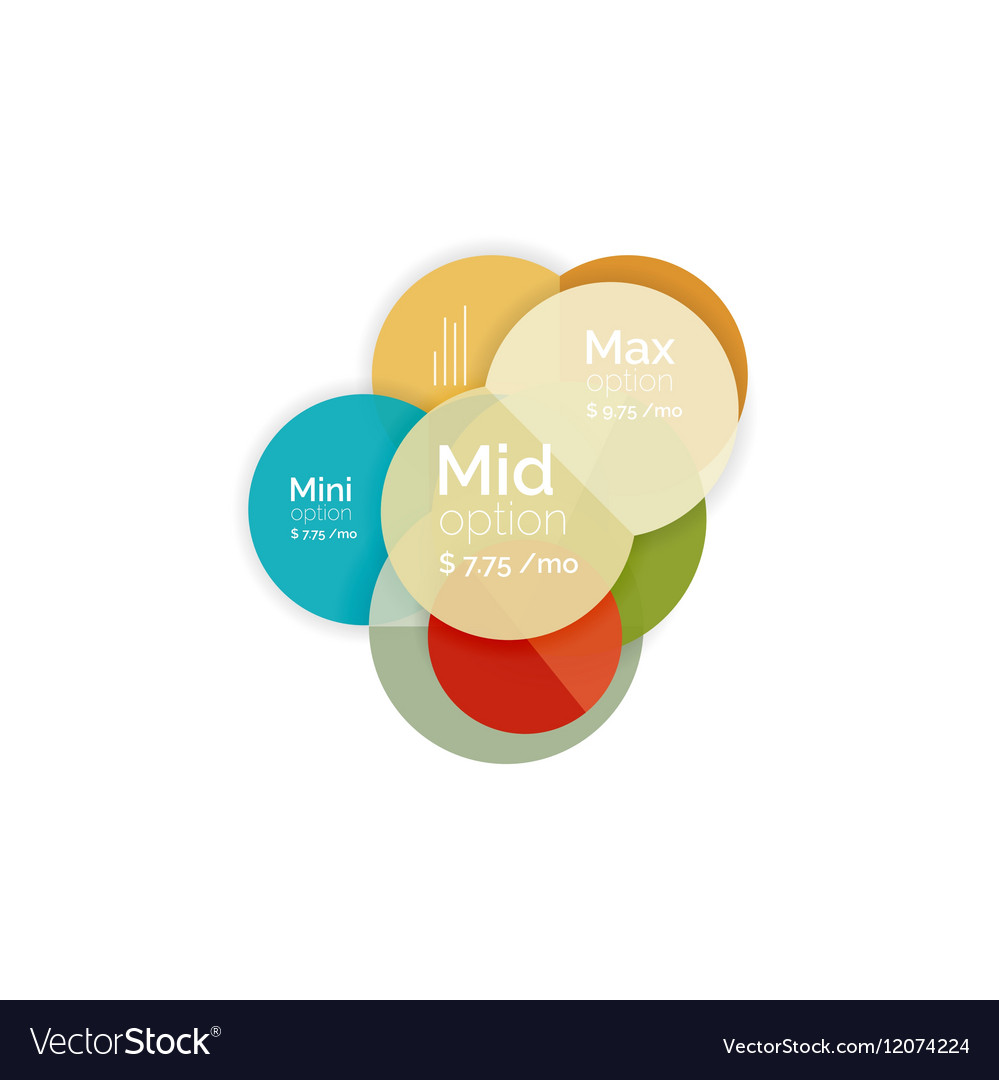 Business circle infographic banner template