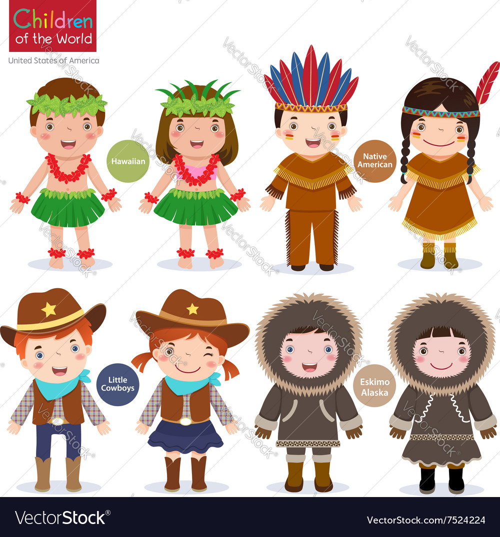 Children of the world USA Hawaiian Native American