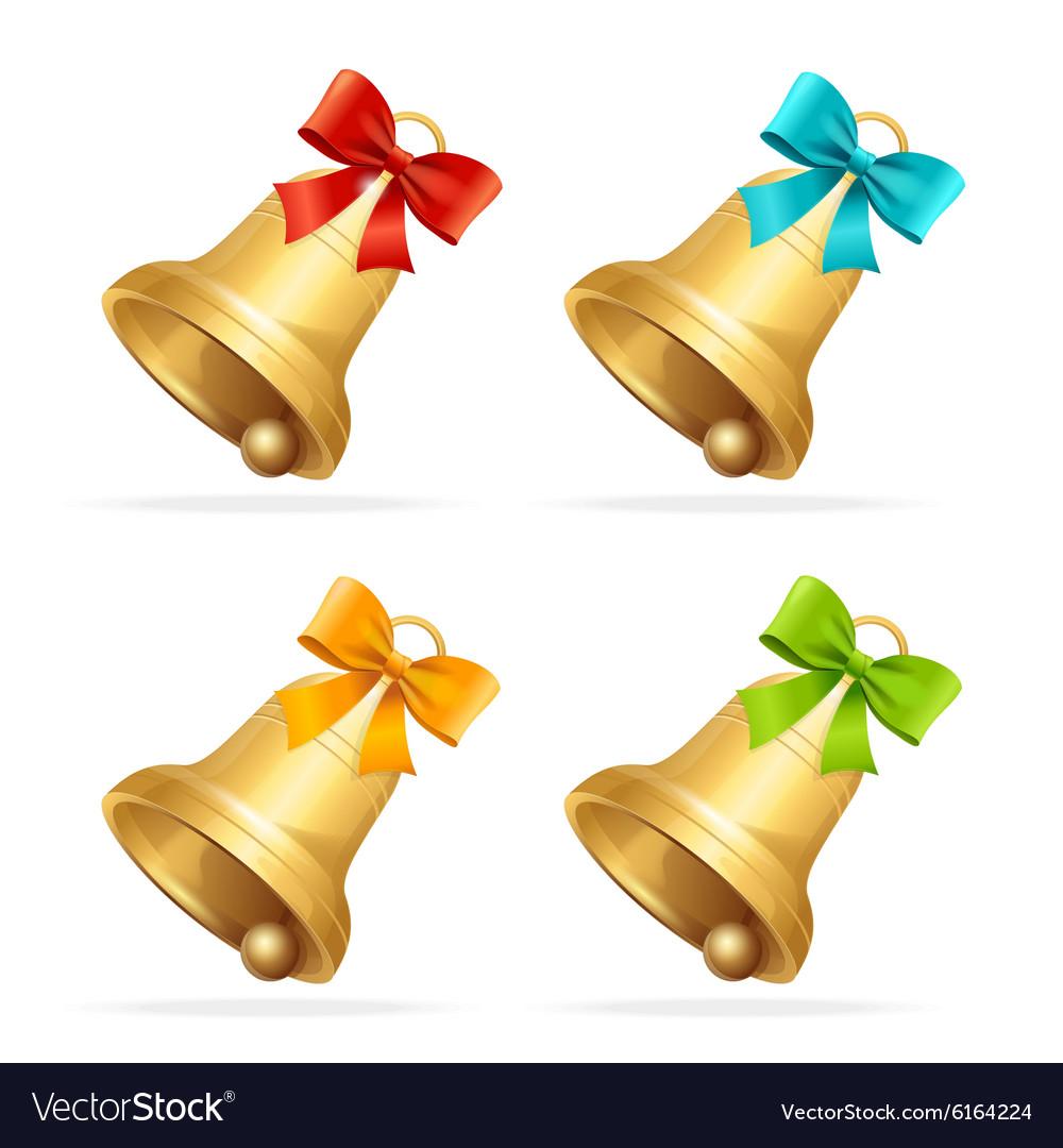 Christmass Bell Set vector image