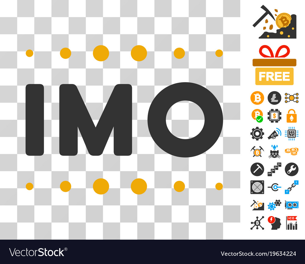 Imo Caption Icon With Bonus Royalty Free Vector Image