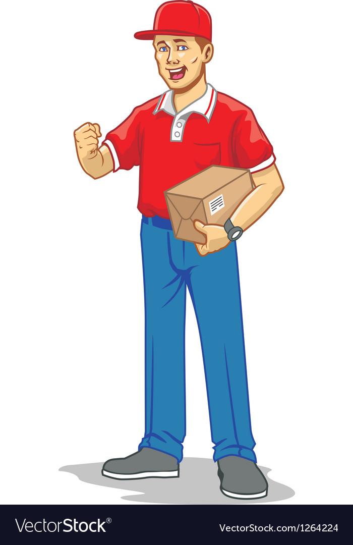 Mailman vector image