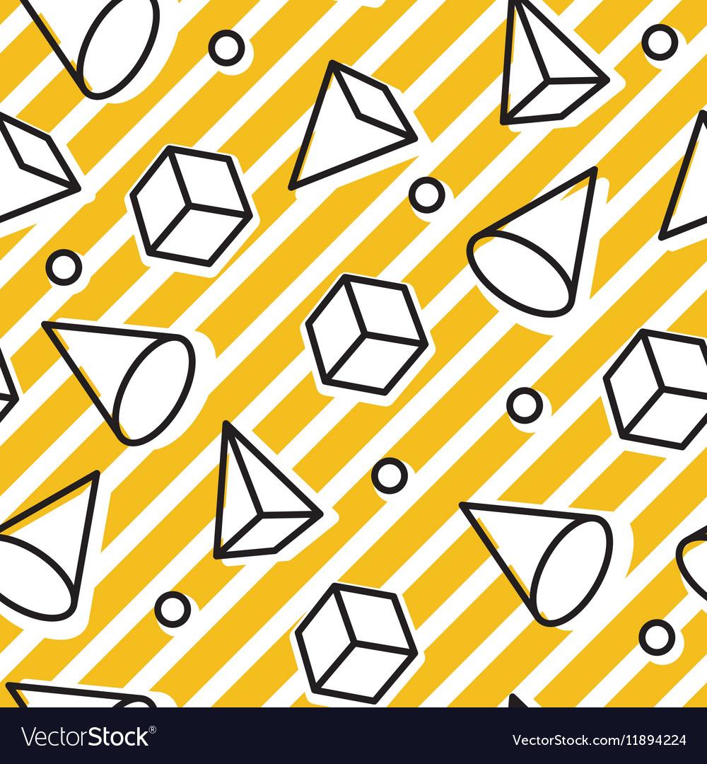 Memphis style seamless pattern