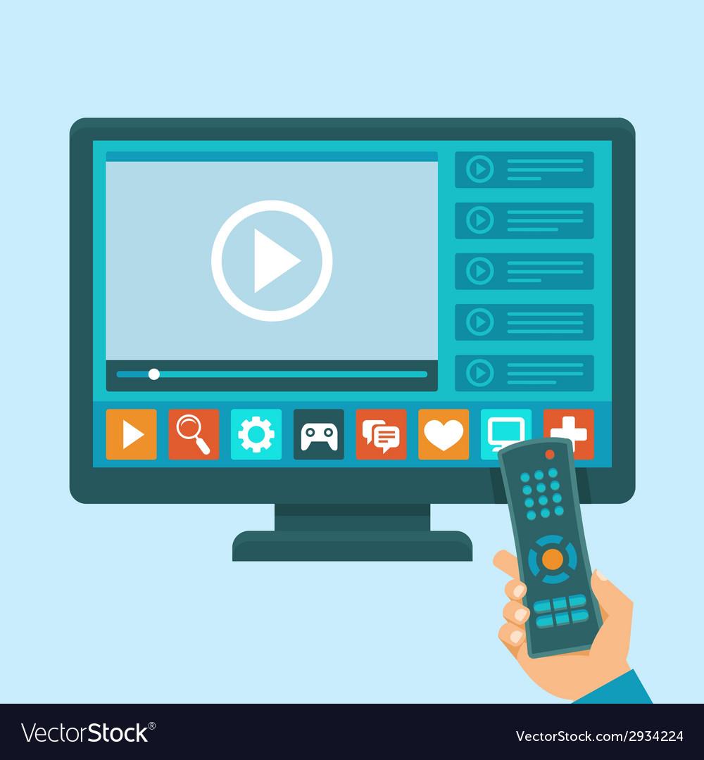 Smart tv concept