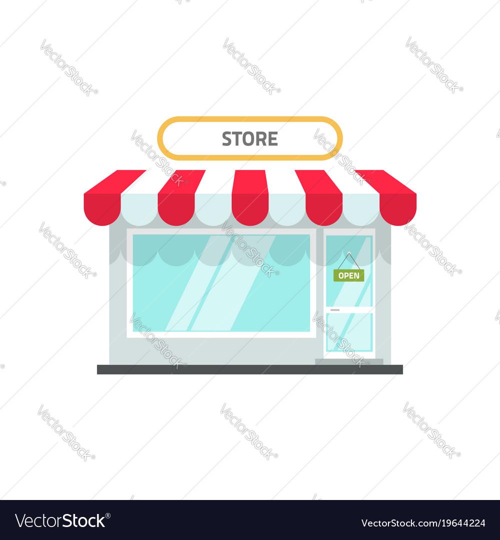 Store or shop facade flat