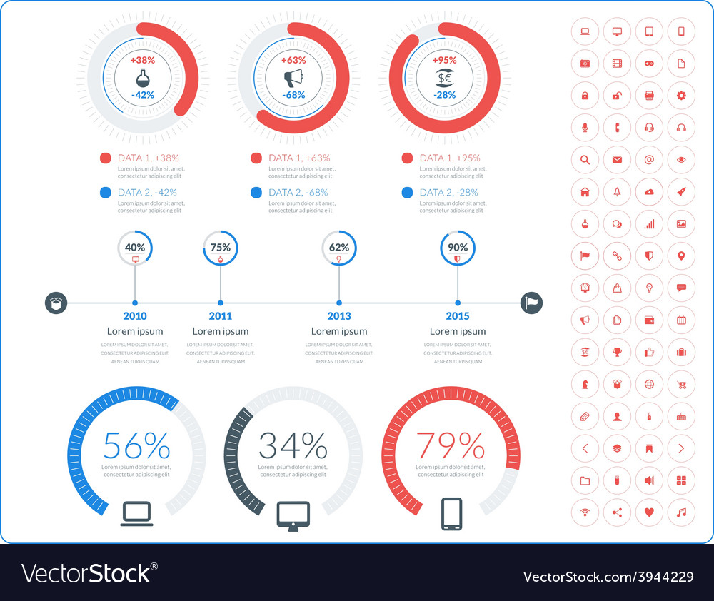 Abstract infographic design in flat style with
