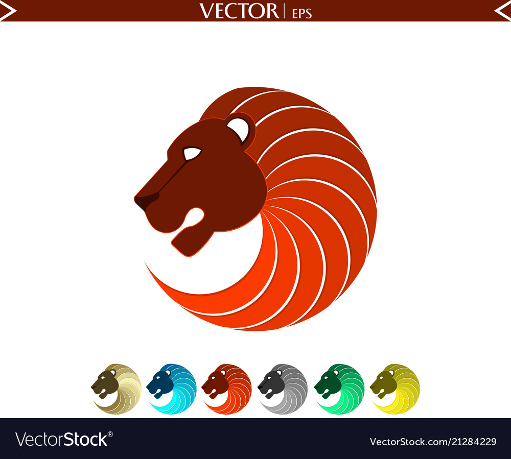 Abstract lion logo red edition