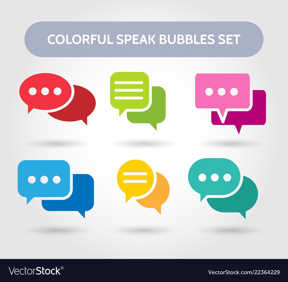 Colorful speech bubble signs vector