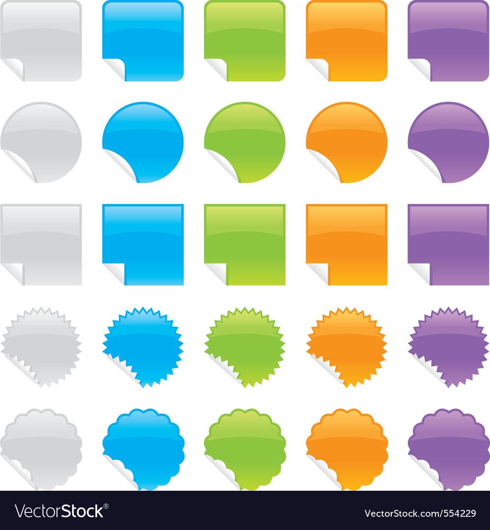 Peeling stickers vector image