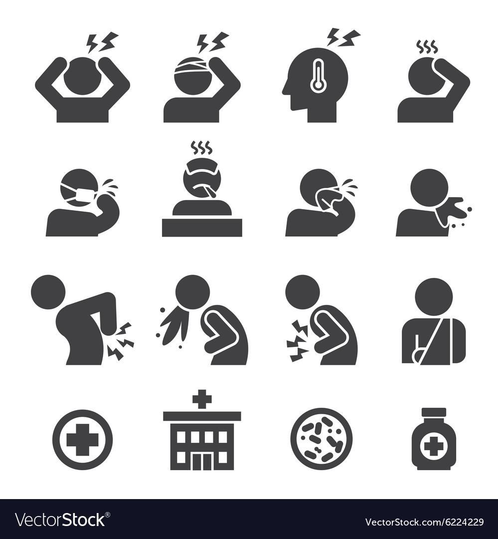 Sick icon set
