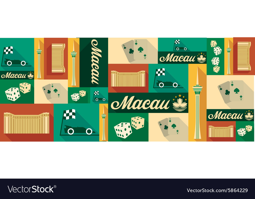 Travel and tourism icons Macau