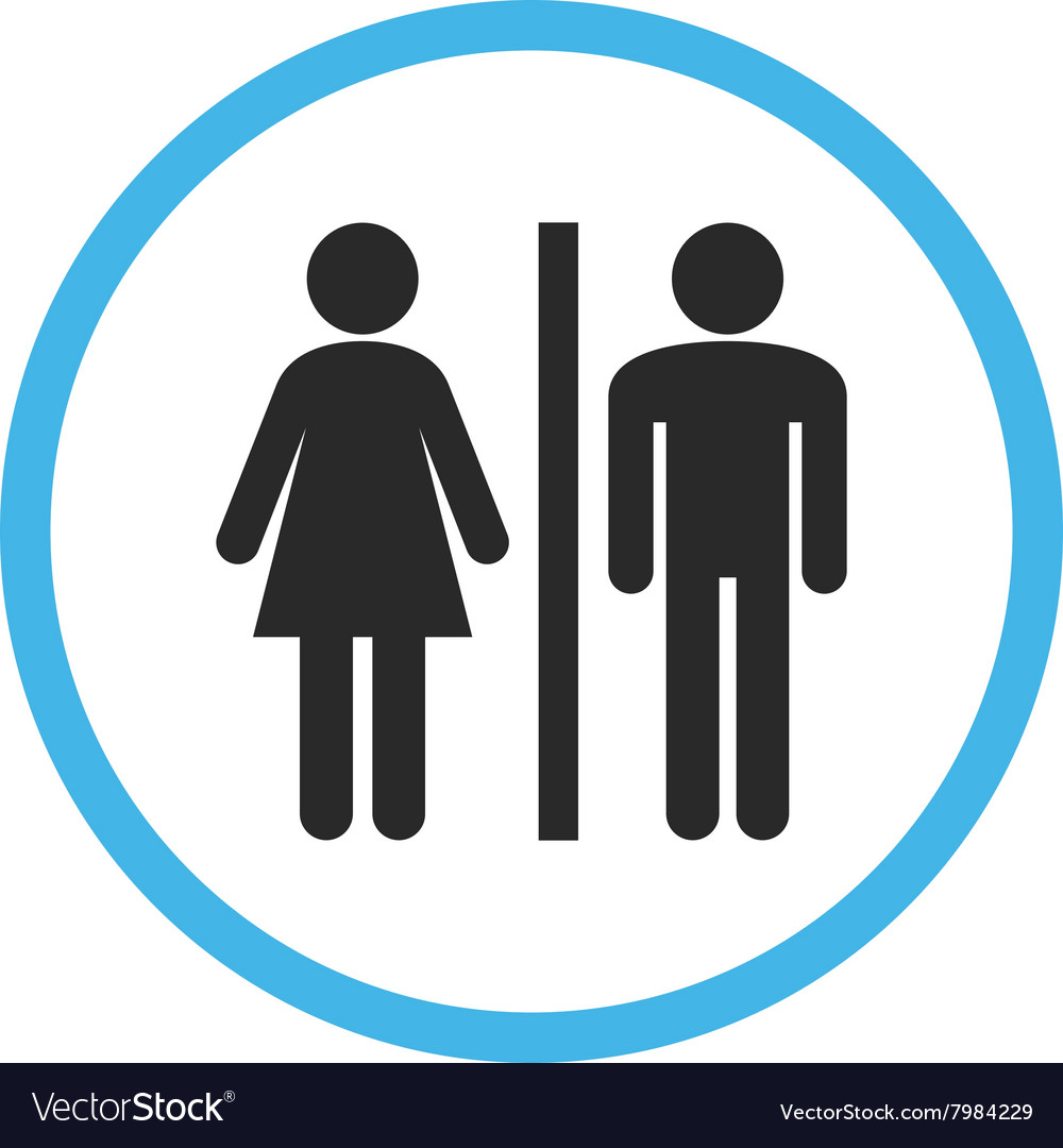 WC Persons Flat Rounded Icon vector image