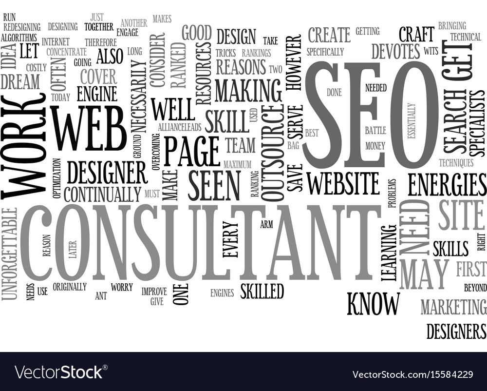 Why outsource to an seo consultant text word