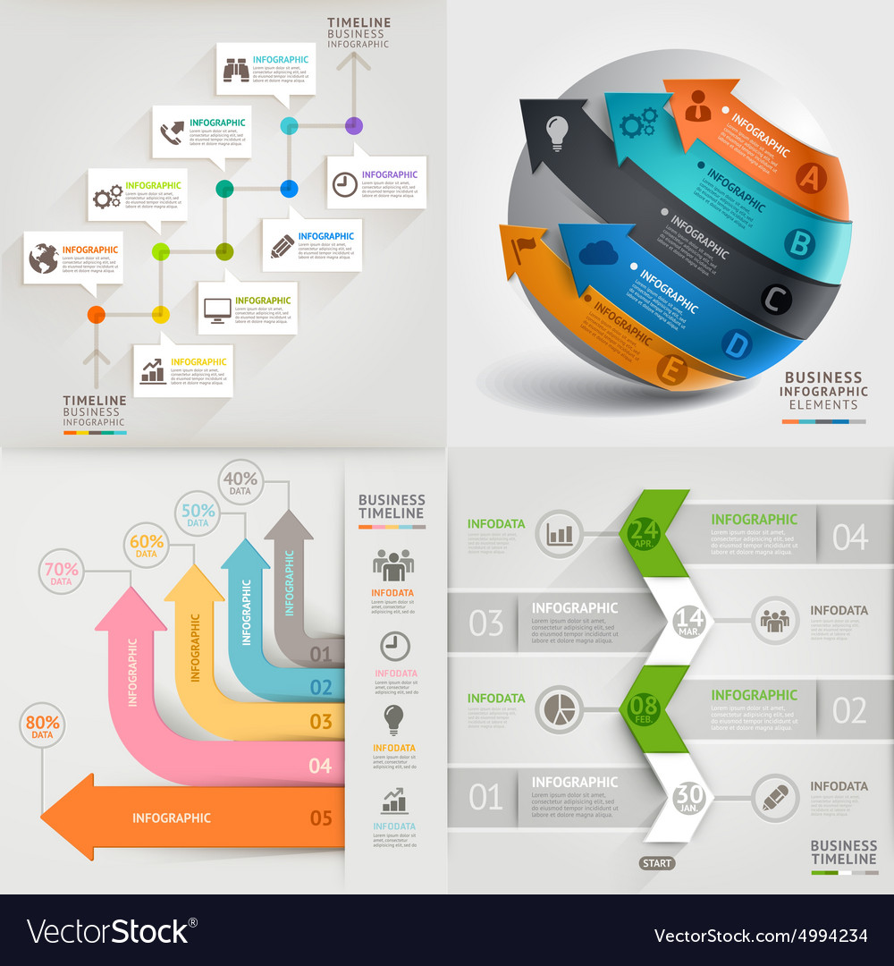Business marketing infographic template