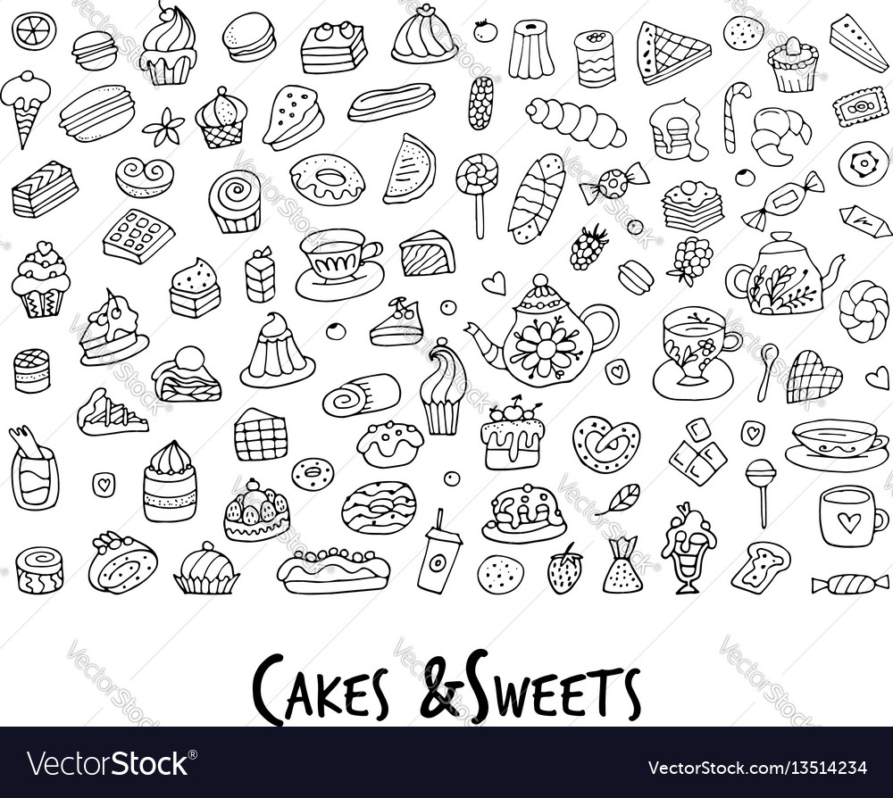 Cakes and sweets collection sketch for your