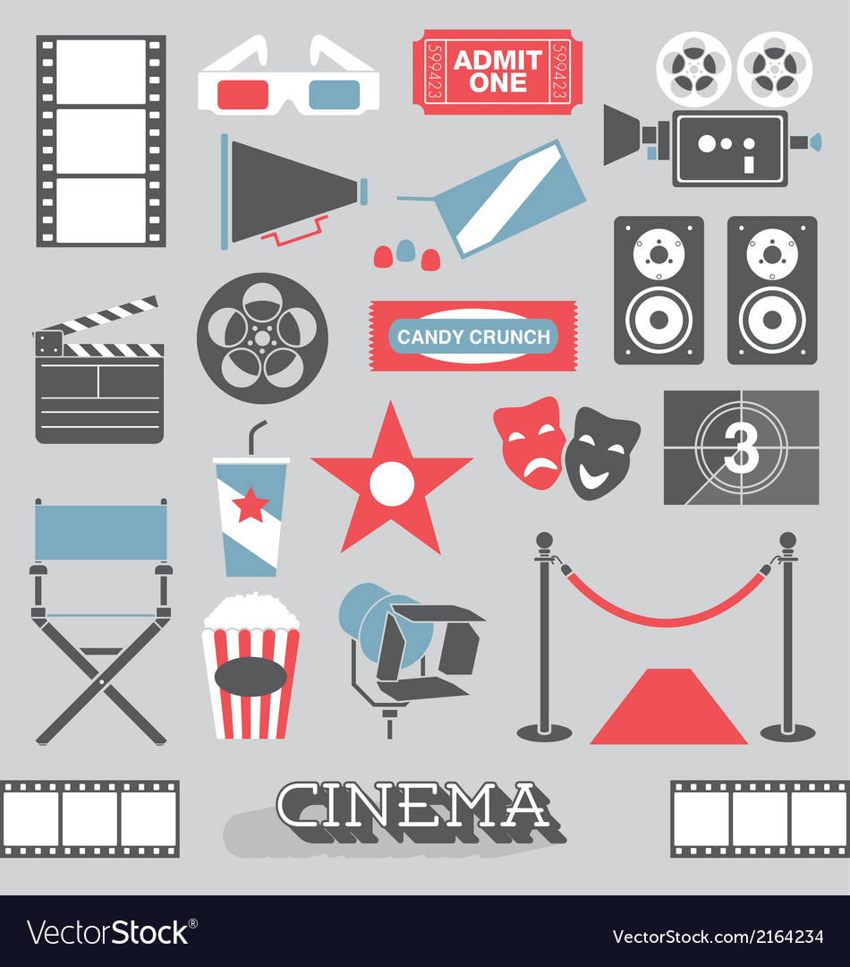 Cinema and Movie Icons and Elements