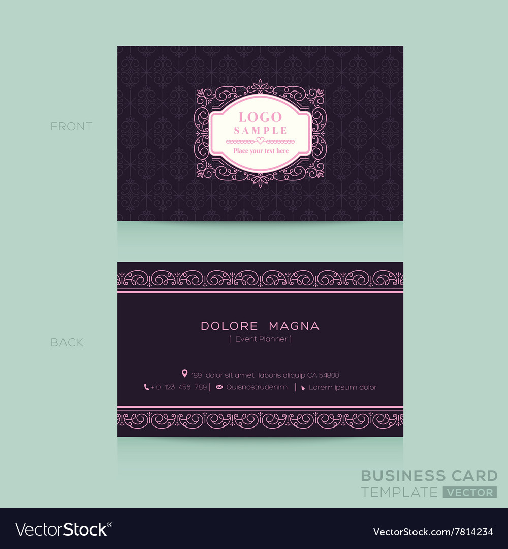 Classic vintage Business card namecard Royalty Free Vector