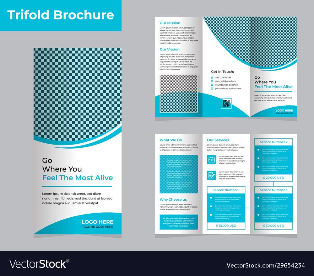 Tri Fold Travel Brochure Template Free from cdn5.vectorstock.com