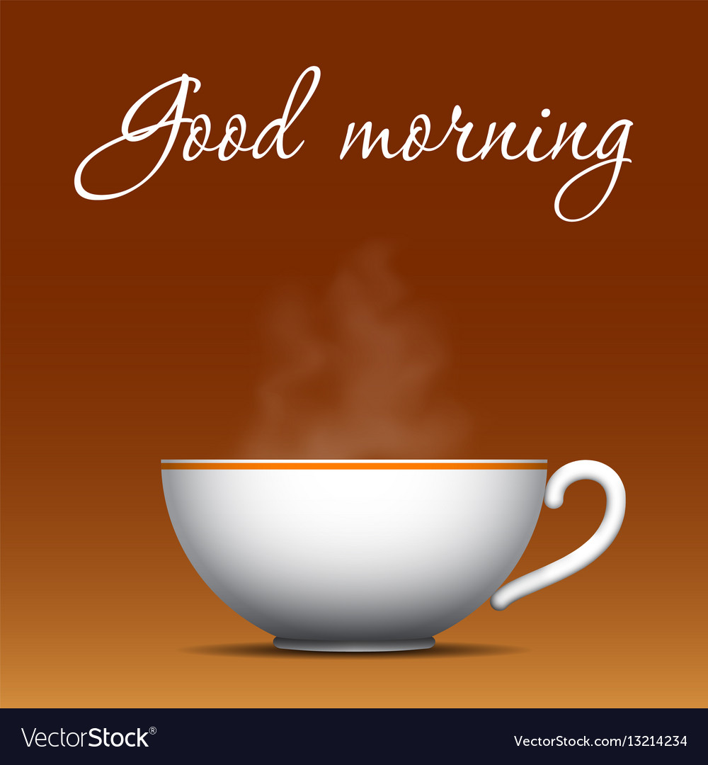 Good Morning Coffee Background Royalty Free Vector Image