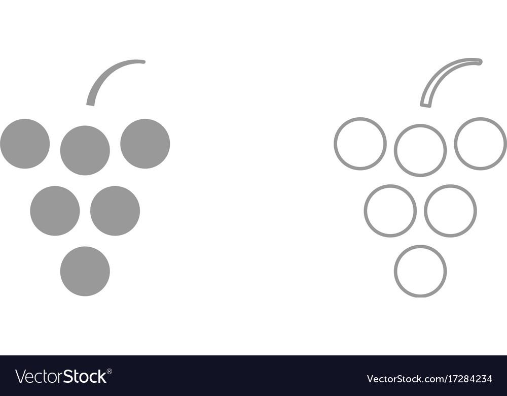 Grape it is icon vector image