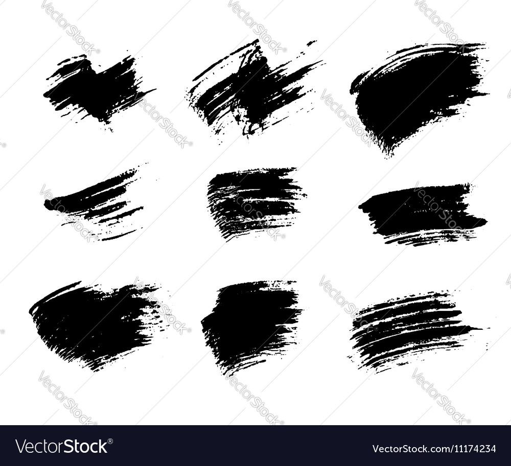 Grunge brushes texture set