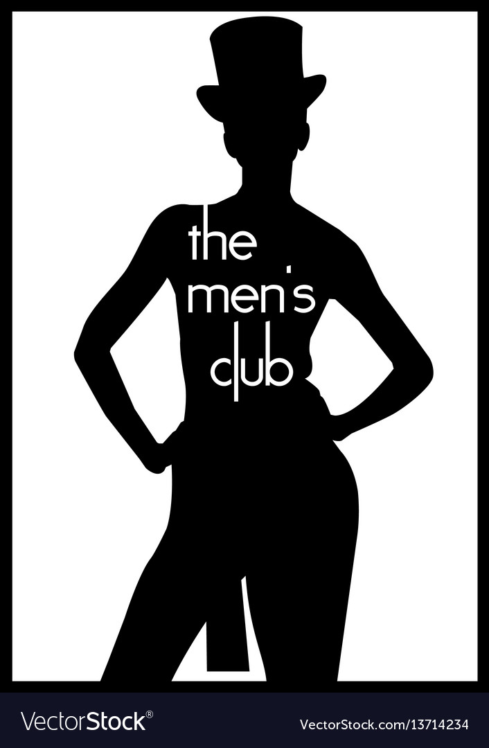 Men s club vintage labels