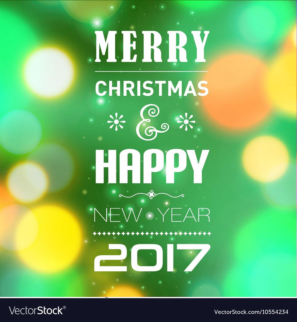 merry christmas post card template vector image - Merry Christmas Post