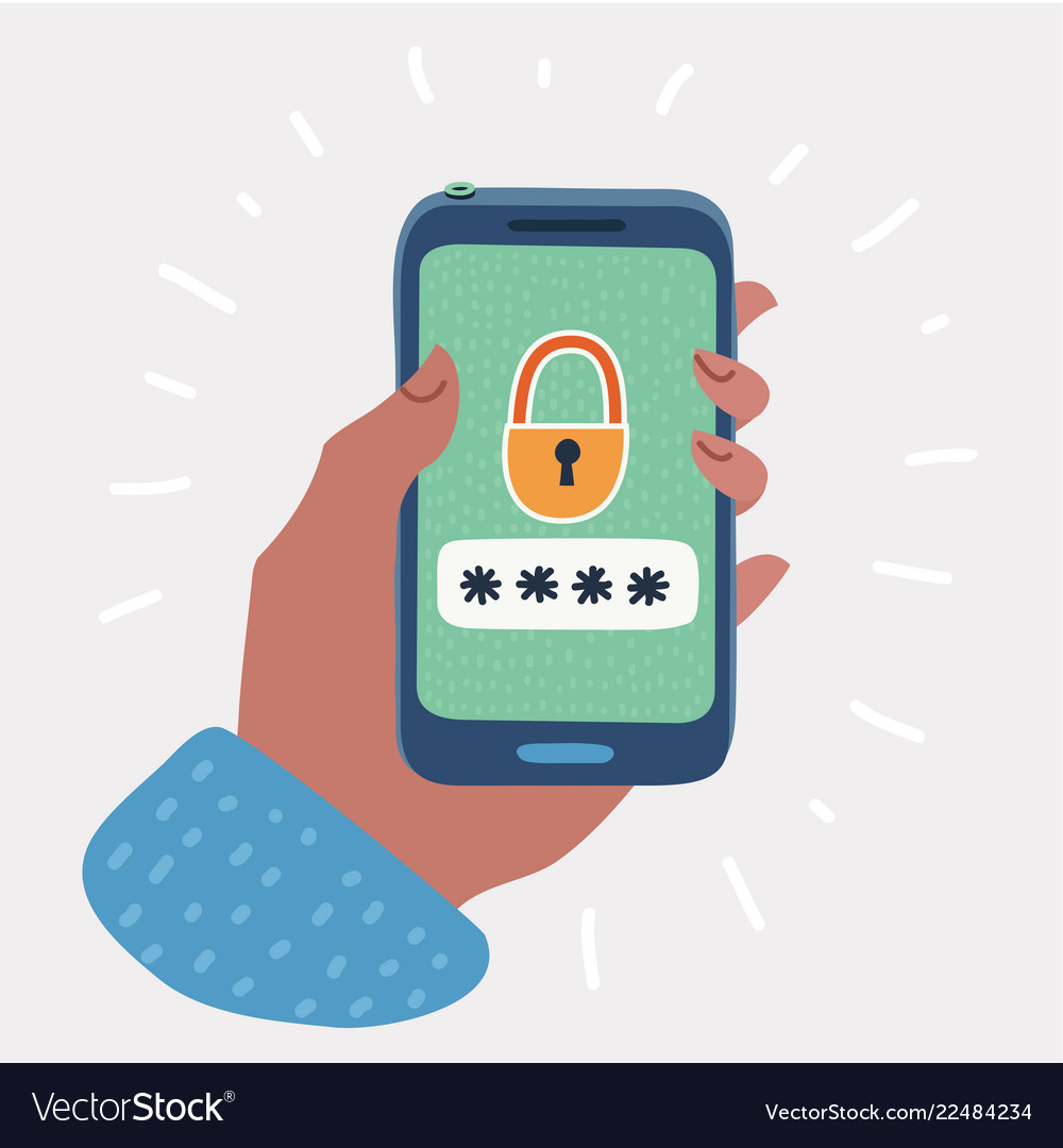 Smartphone unlocked button and password field