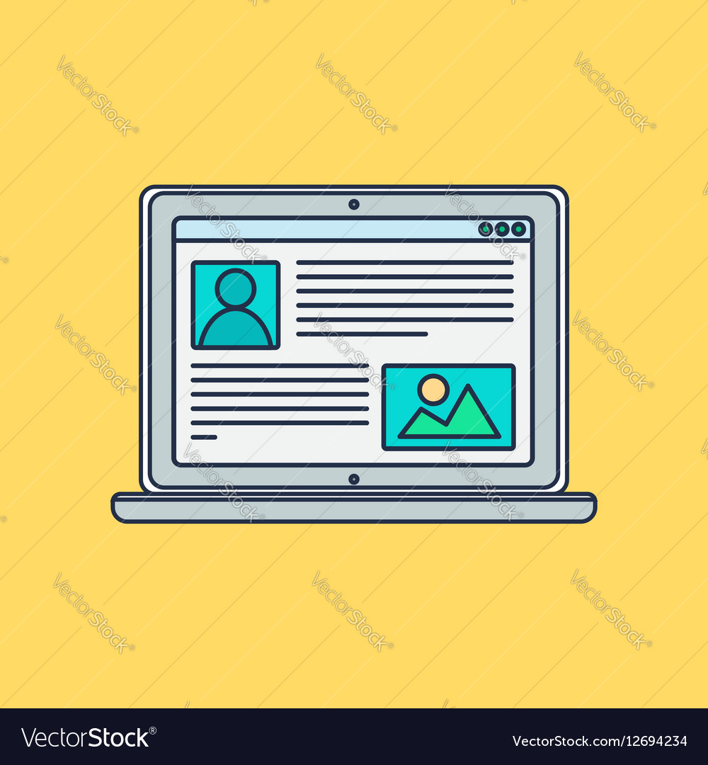 Web Template of Computer Site or Article Form
