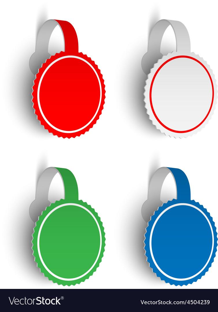 3D Banner Sticker Label Set vector image