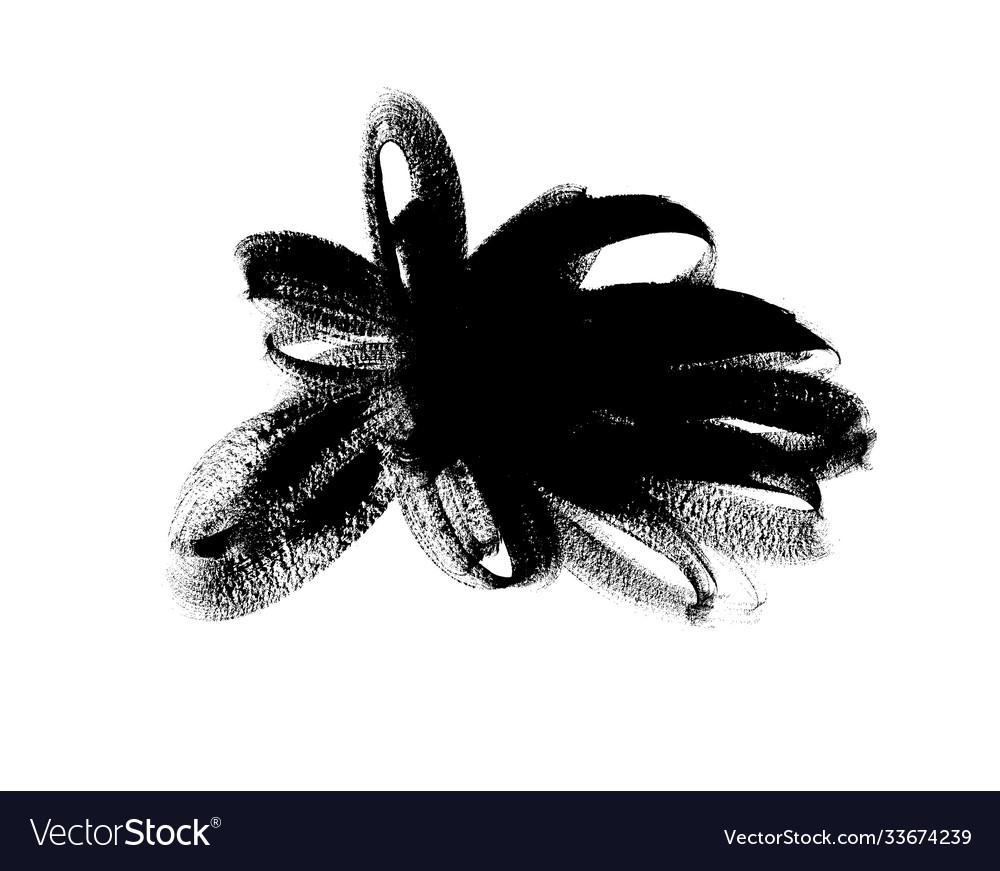 Black paint brush stroke ink brush shape