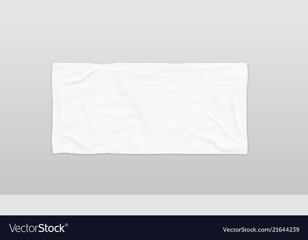 Soft Beach Towel For Branding Vector Image