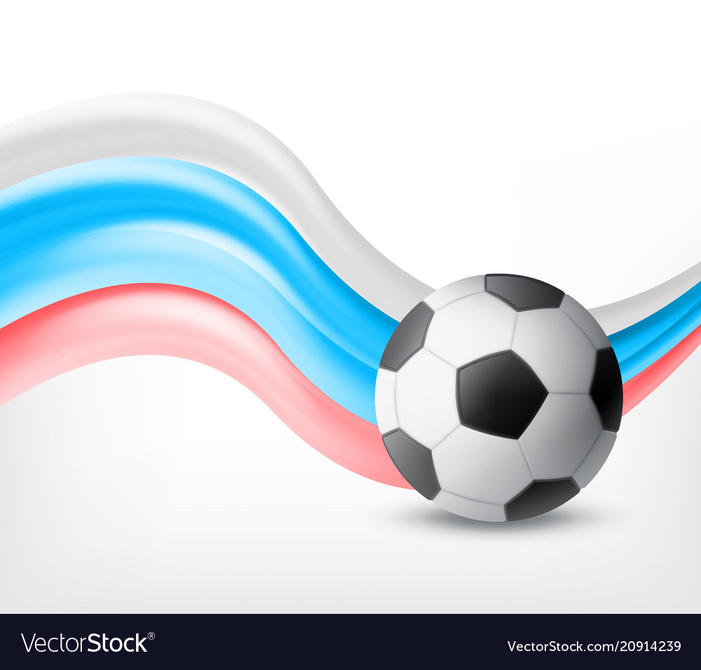 Flag of russia and ball