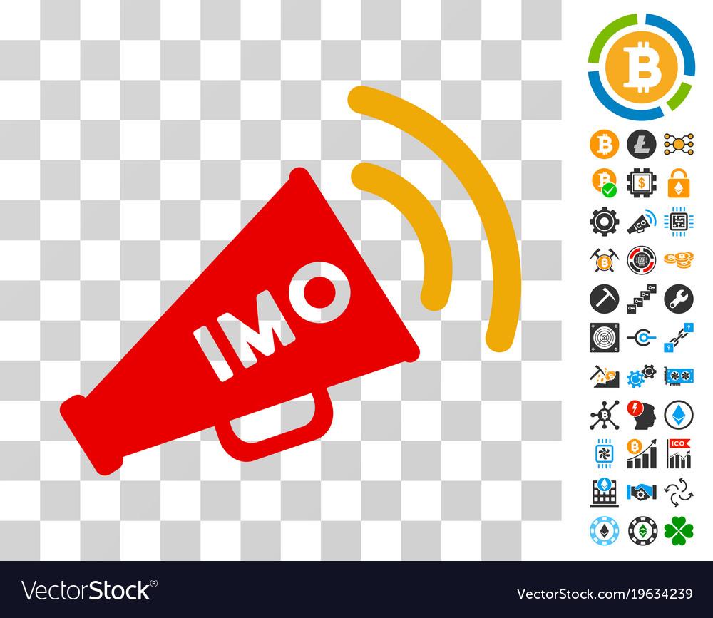 Imo Megaphone Alert Icon With Bonus Royalty Free Vector