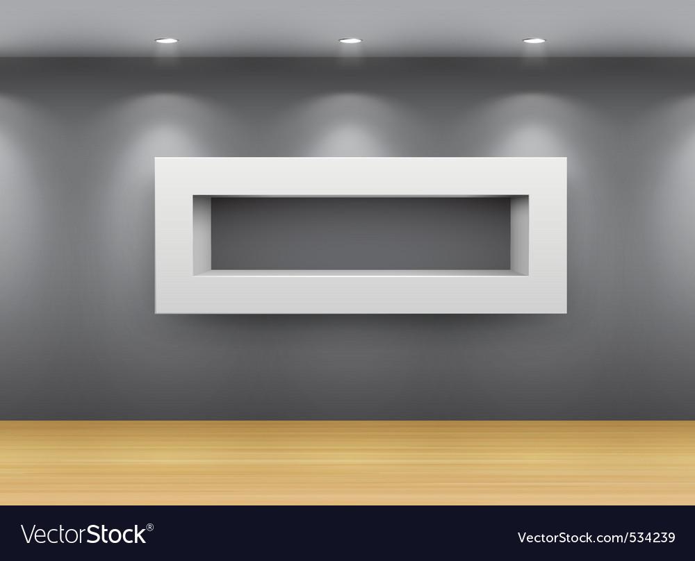 Interior gallery shelf