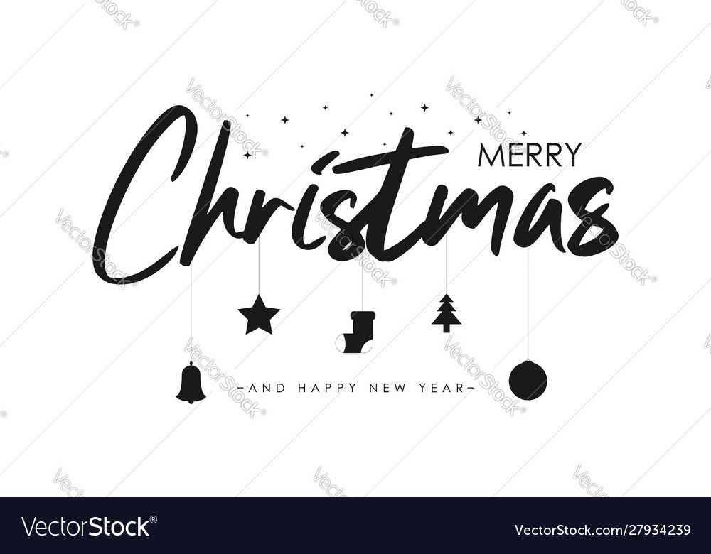 Merry christmas text banner